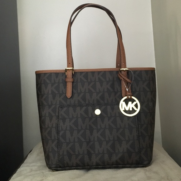 0cdc2d9020d4fa MICHAEL Michael Kors Bags | Michael Kors Brown Jet Set Item Snap ...