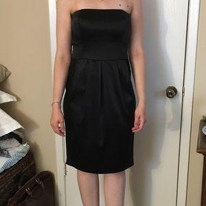 Anne Klein black strapless cocktail dress