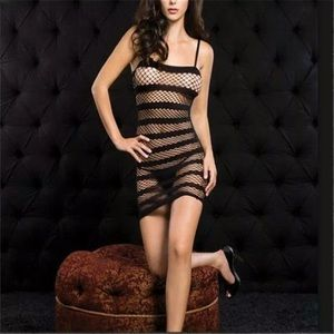 Accessories - Sexy Lingerie Fishnet Crotchless Open Crotch Dress