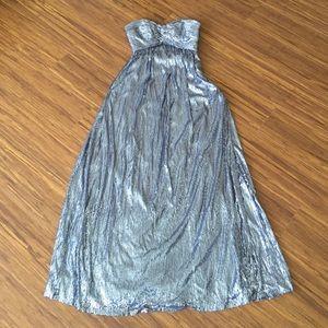 La Femme Dresses & Skirts - La Femme Sequin Strapless Silver Gown