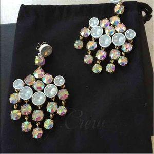 J. Crew Jewelry - ‼️sale‼️J Crew Crystal Chandelier earrings 🌺🌸💕