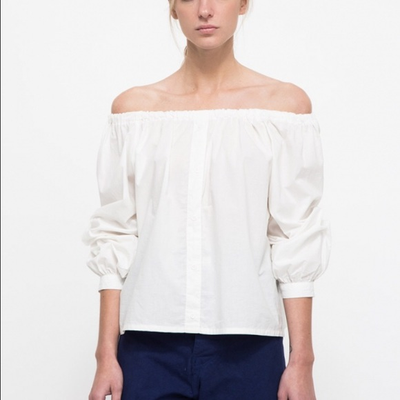 0fa23e8eef43 Farrow Tops - Vacation off-shoulder White Top Farrow