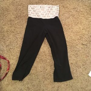 Vs pink crop yoga pants