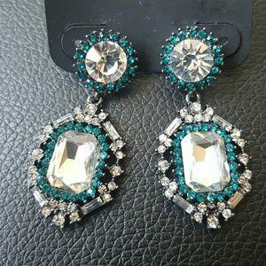 Jewelry - Something Blue Crystal Earrings NWT
