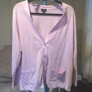 Talbots cotton cardigan - soft lavender