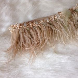 Anthropologie Accessories - Anthropologie feathery belt