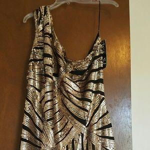 Sydney's Closet Dresses & Skirts - Sequin cold shoulder dress