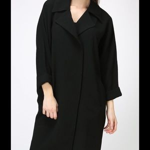 Moon Collection SIMPLY Black Long Coat