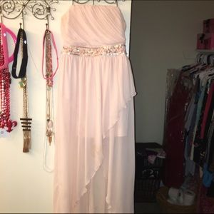 Light pink maxi high low forever 21 dress size S