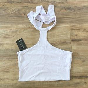Tops - ➳ Multiway Desi Perkins Ivory White Crop Top