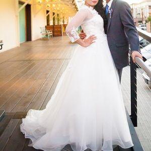 Hand decorated wedding dress