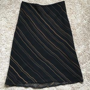 Express Black Striped Skirt, XS