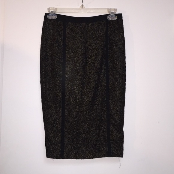 35% off RACHEL Rachel Roy Dresses & Skirts - Black and gold lace ...