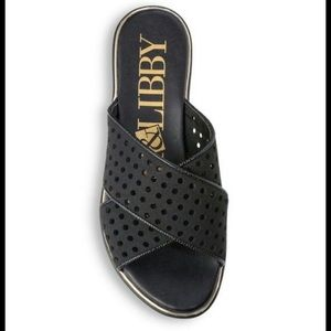 NWT Sam & Libby Perforated Black Sandals