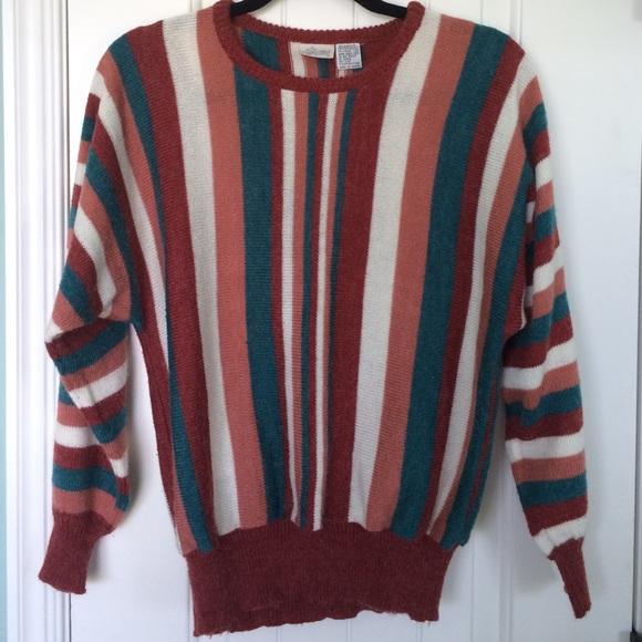 Vintage Vertical Striped Sweater