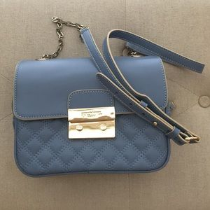 Spartina 449 Handbags - Spartina 449 French Blue Quilted Leather Bag