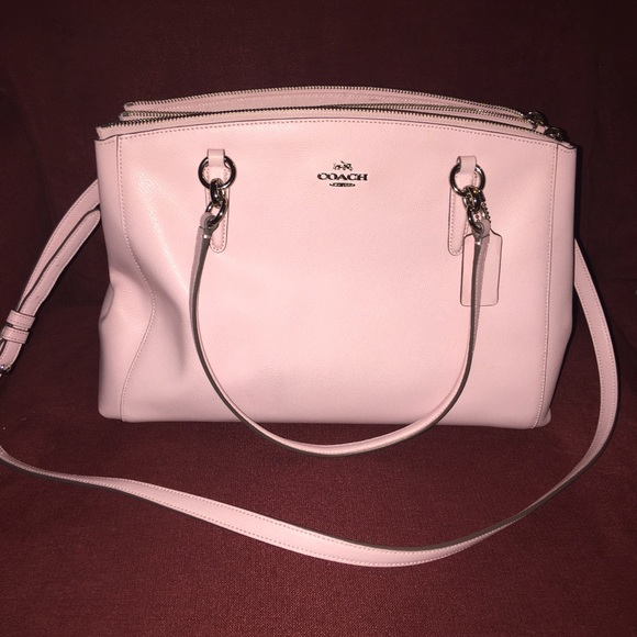 67 Off Coach Handbags Baby Pink Coach Purse Two Way