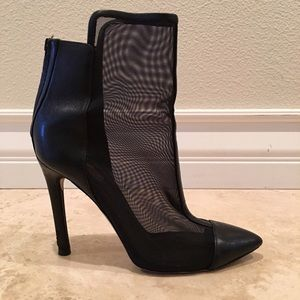 Reed Krakoff   Shoes - REED KRAKOFF Leather Mesh Ankle Boots Heels 7.5M