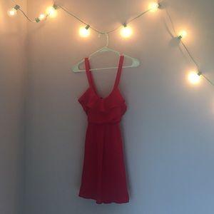 Tobi red dress xs