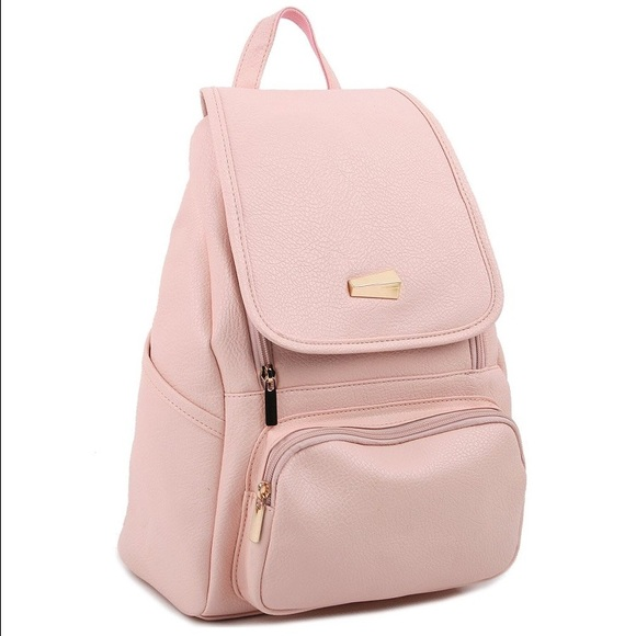New Light Pink Faux Leather Backpack from Taylor's closet on Poshmark