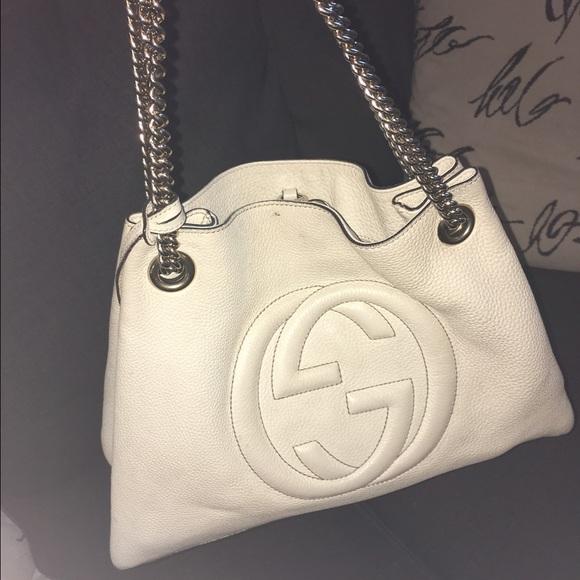 6fda8ce44bd4 Gucci Bags | Soho Cream Tote | Poshmark