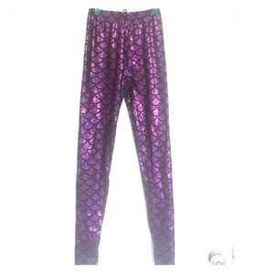 Pants - Mermaid Leggings Violet Purple Medium