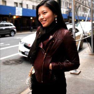 4b60ae685 Massimo Dutti Jackets & Coats - Lusciously soft red leather jacket - Massimo  Dutti
