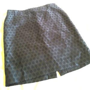 "J. Crew Dresses & Skirts - 21"" long J Crew pencil skirt/navy polka dots"