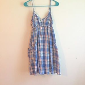 Tulle Dresses & Skirts - Tulle Blue plaid country dress medium pockets