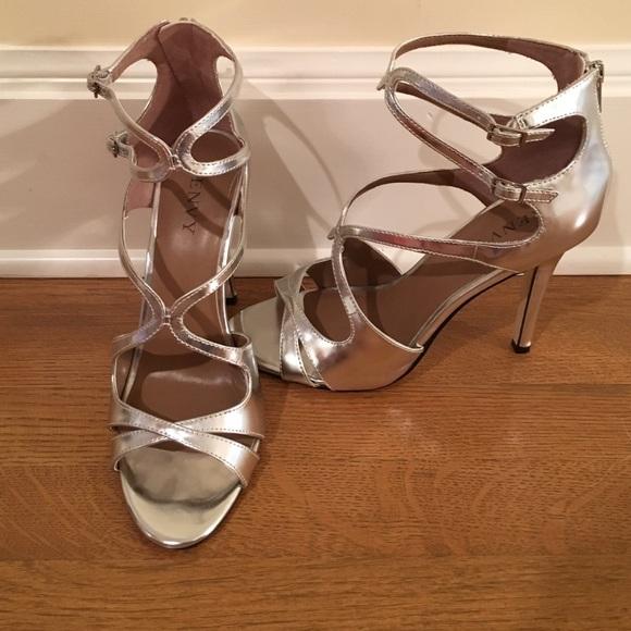 535cf6ebf7 Renvy Shoes   Silver Strappy Highheeled Sandals   Poshmark