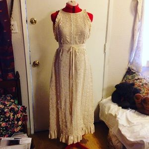 Vintage Cotton Linen Hippie Dream Dress
