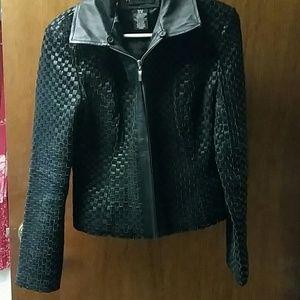 Leather Apostrophe jacket