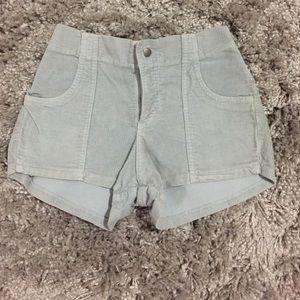 American Apparel Corduroy High Waisted Shorts