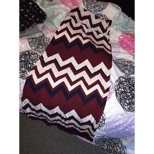 rue 21 Fold-Over Jersey Maxi Skirt