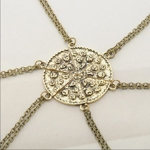 Gold slice of pizza necklace!