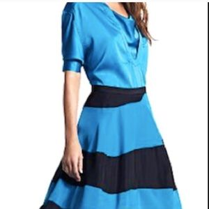Derek Lam Dresses & Skirts - Black and Blue Candy Stripe Skirt