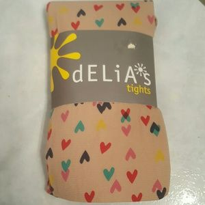 Delia's  Other - Delia's Mini Heart Tights