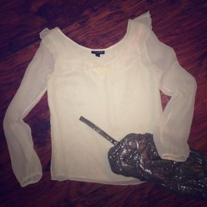 Behnaz Sarafpour Tops - sheer ivory top