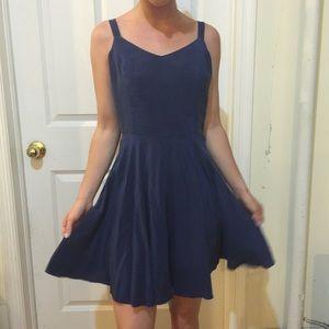 Amanda Uprichard Dresses & Skirts - Amanda Uprichard Slate Silk Skater Dress