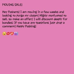 $ Moving Sale $
