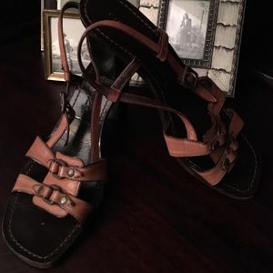 Sigerson Morrison Shoes - Tan Leather Sigerson Morrison Sandals sz 9