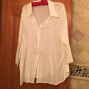 krazy kat  Tops - White shirt. NWT
