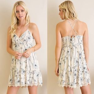Bare Anthology Dresses & Skirts - Floral Strappy Mini Dress
