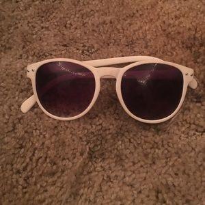 Claire's White Frame sunglasses