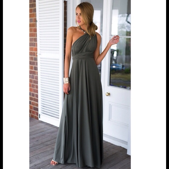 Dresses & Skirts - Gray Multiway Infinity Maxi Dress 💗HOST PICK