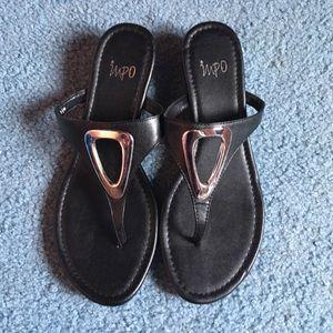 Coach Jean Strappy Cork Brown Shoes