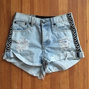 One Teaspoon High Rise Denim Shorts 26