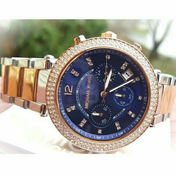 742fc30e291e Michael Kors Parker MK Glitz bracelet watch MK6141.  M 577bc23b9c6fcf3284002025