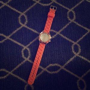 Cute Orange Rubber Watch