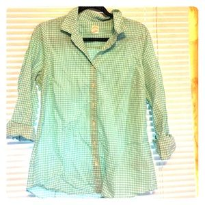 J Crew Aqua Plaid Shirt